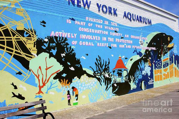 Wall Art - Photograph - New York Aquarium, Coney Island, Brooklyn, New York by Zal Latzkovich