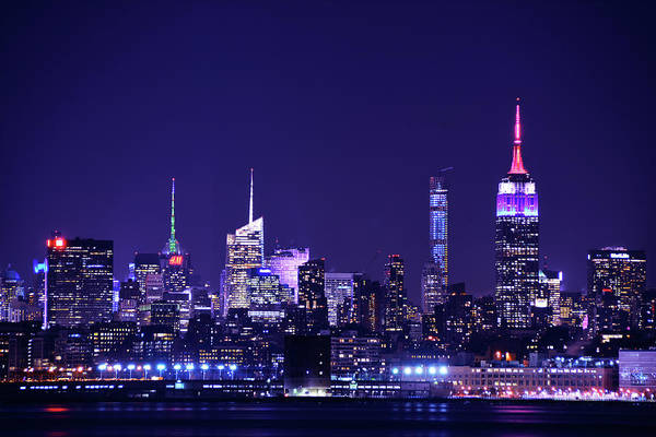 Photograph - New York Blue Hour by Raymond Salani III