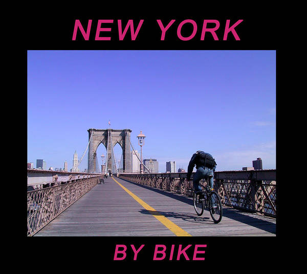 Photograph - New York By Bike - Brooklyn Bridge by Frank DiMarco