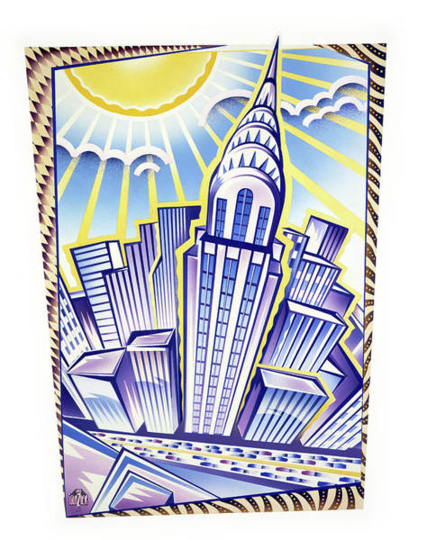 Wall Art - Painting - New York Chrysler Building by Garth Glazier