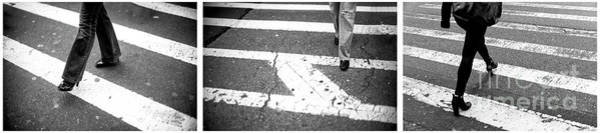 Photograph - New York City Crossings Triptych by John Rizzuto