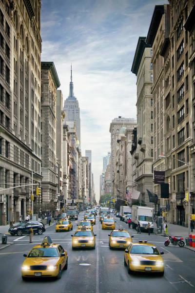 Wall Art - Photograph - New York City 5th Avenue Street Scene by Melanie Viola
