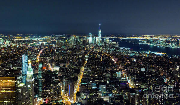 Photograph - New York City At Night 1 by Sanjeev Singhal