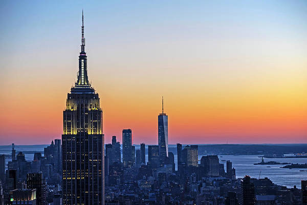 Photograph - New York City At Sunset New York Ny by Toby McGuire