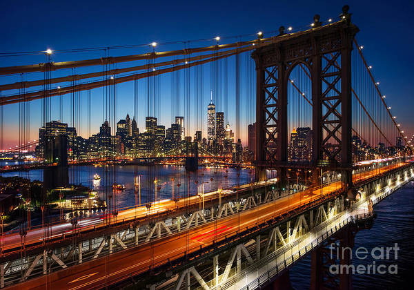 Wall Art - Photograph - New York City - Beautiful Sunset Over by Im photo