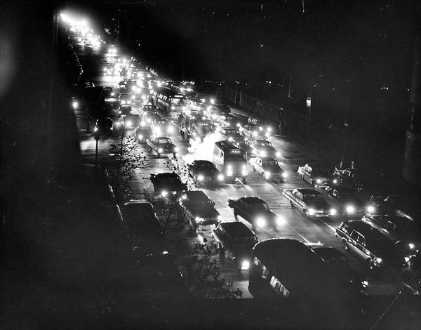 Crisis Photograph - New York City Blackout In 1965 by Pictorial Parade