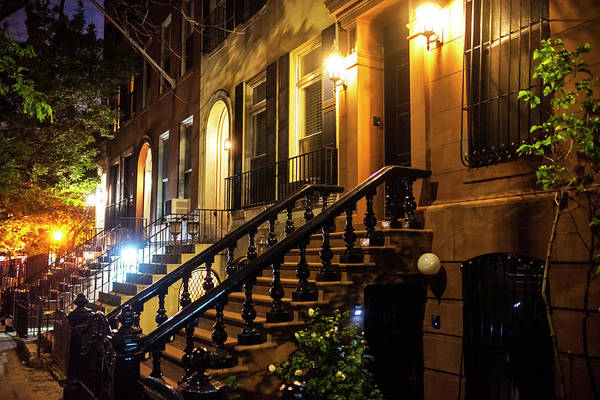 Photograph - New York City Brownstones  Hell's Kitchen Chelsea Ny by Toby McGuire