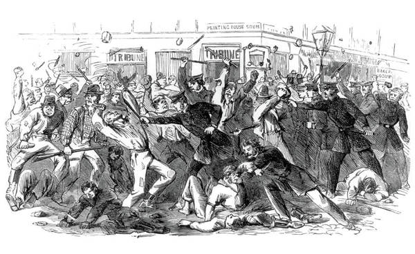 Wall Art - Photograph - New York City Draft Riots, 1863 by Science Source