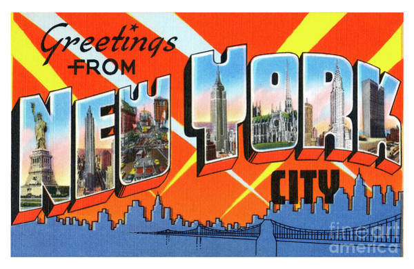 Photograph - New York City Greetings - Version 1 by Mark Miller