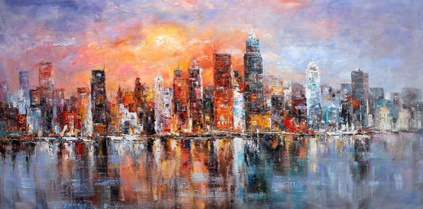 Wall Art - Painting - New York City  by Louis Ferreira