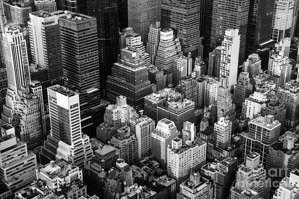 Midtown Photograph - New York City Manhattan Aerial View by Irina Kosareva