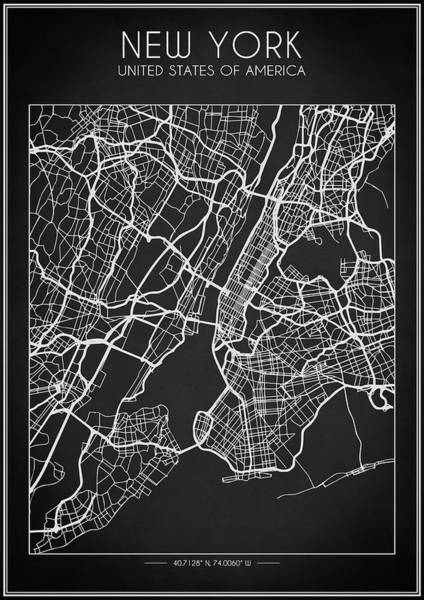 Digital Art - New York City Map by Zapista Zapista