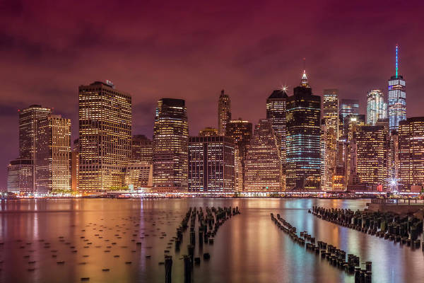 Wall Art - Photograph - New York City Nightly Impressions  by Melanie Viola
