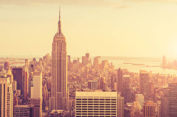 Looking Down Photograph - New York City Panoramic View by Franckreporter