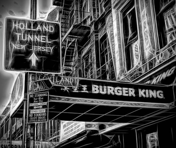 Holland Tunnel Wall Art - Photograph - New York City Signs by Paul Coco