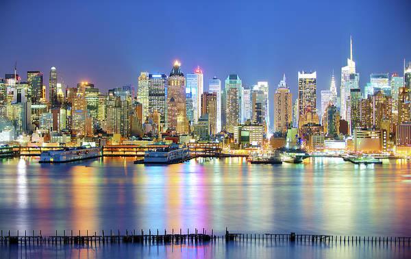 New York City Skyline At Night Photograph By Tony Shi Photography
