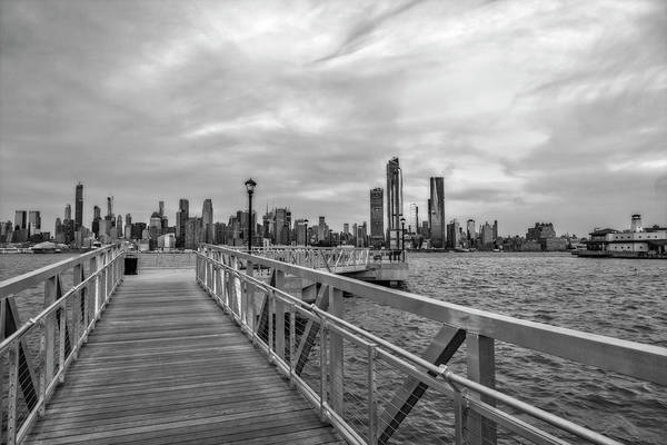 Photograph - New York City Skyline Blues Bw by Susan Candelario