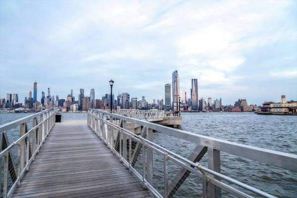 Photograph - New York City Skyline Blues by Susan Candelario