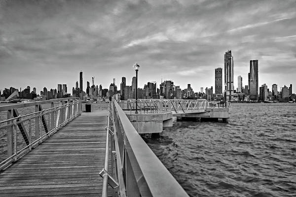 Photograph - New York City Skyline In Pastels Bw by Susan Candelario