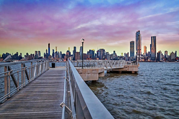 Photograph - New York City Skyline In Pastels by Susan Candelario