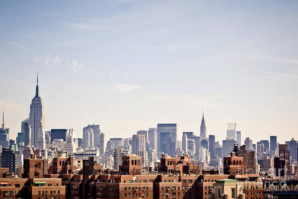 Midtown Photograph - New York City Skyline Taken From by Andrey Bayda