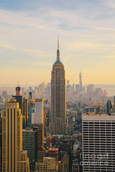 Wall Art - Photograph - New York City Skyline With Urban by Irina Kosareva