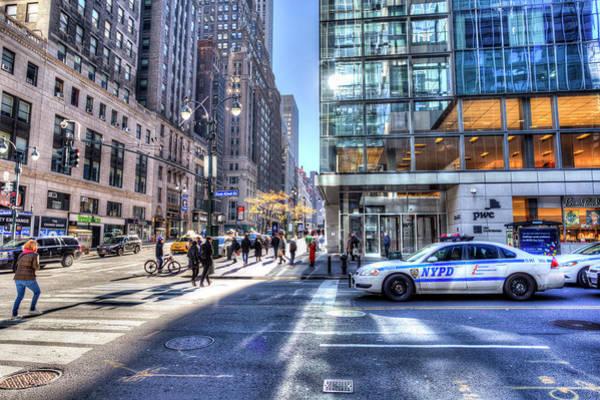 Wall Art - Photograph - New York City Street Scene by David Pyatt