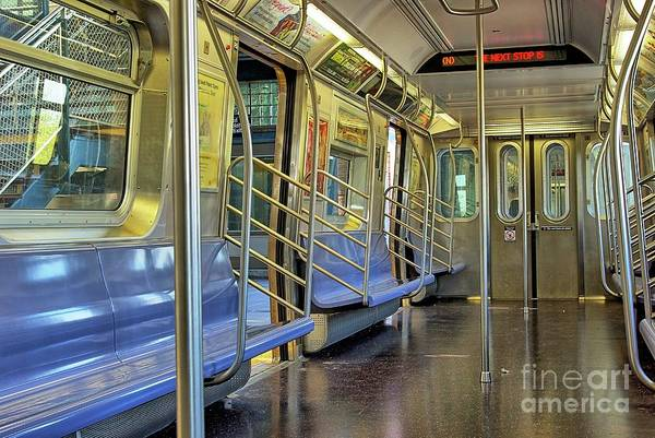 Wall Art - Photograph - New York City Empty Subway Car by Zal Latzkovich