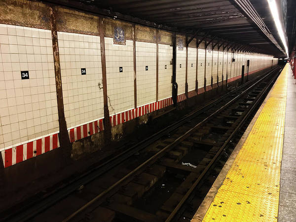 Photograph - New York City Subway Line by Shane Kelly