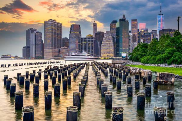 Urban Decay Photograph - New York City, Usa City Skyline On The by Sean Pavone