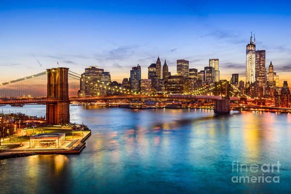 Midtown Photograph - New York City, Usa Skyline Over East by Sean Pavone