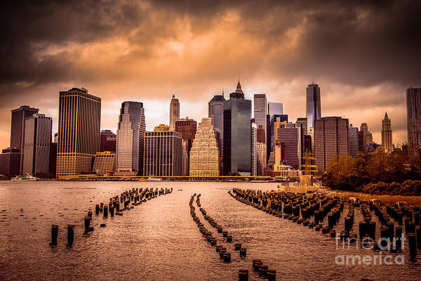 Wall Art - Photograph - New York City View Of Lower Manhattan by Littlenystock