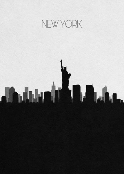 Wall Art - Digital Art - New York Cityscape Art by Inspirowl Design