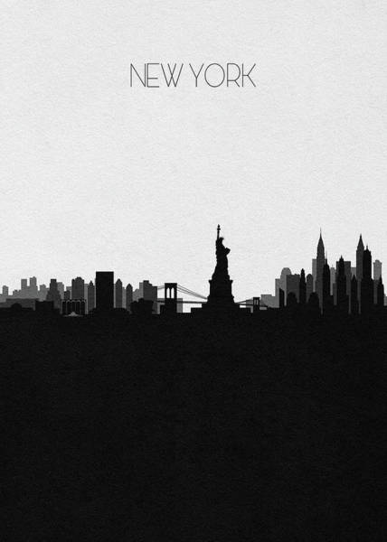 Wall Art - Drawing - New York Cityscape Art V2 by Inspirowl Design