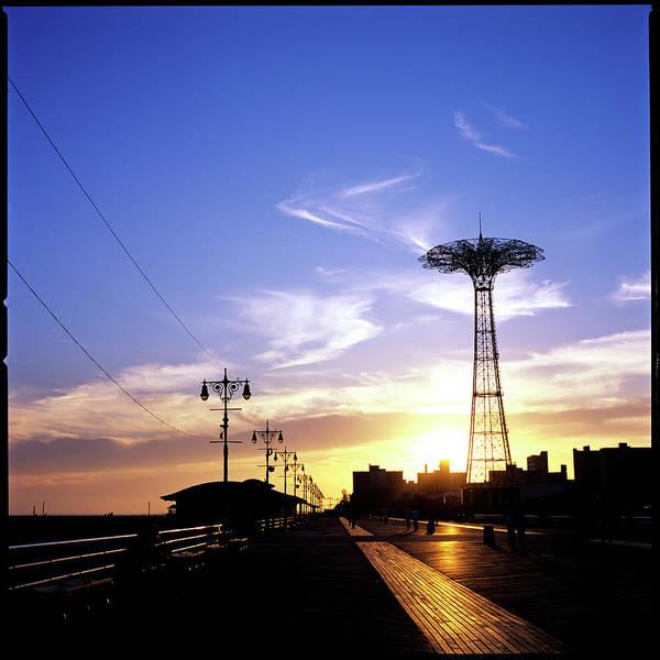 New York, Coney Island, Parachute Jump Art Print