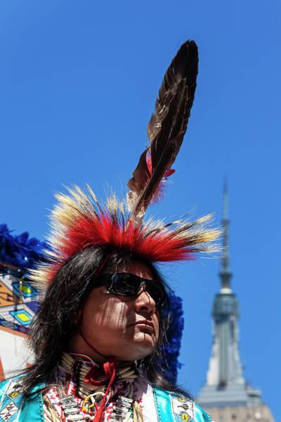 Wall Art - Photograph - New York Dance Parade 2019 Native American Dancer by Robert Ullmann