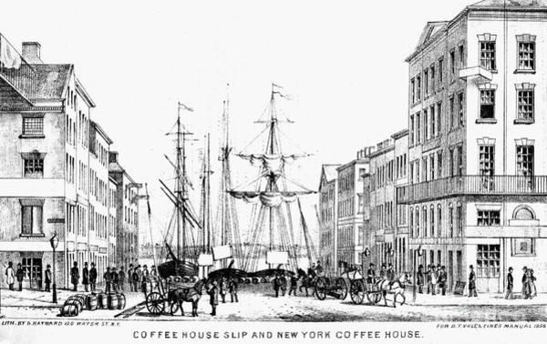 Drawing - New York Docks, 1856 by Granger