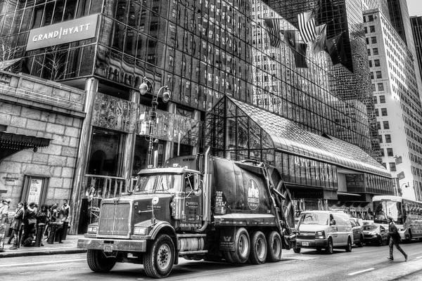 Wall Art - Photograph - New York Dumpster Truck by David Pyatt