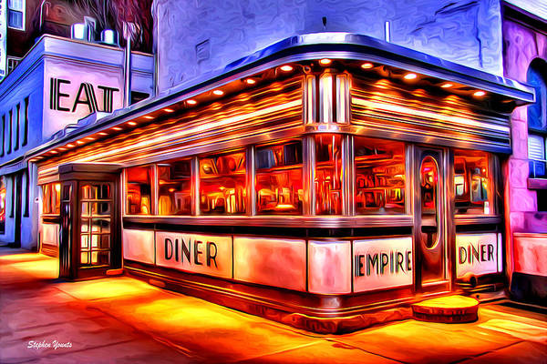 Wall Art - Digital Art - New York Empire Diner by Stephen Younts