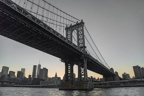 Wall Art - Photograph - New York Evening Under The Bridge by Betsy Knapp