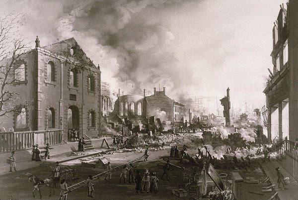 East Side Photograph - New York Fire by Kean Collection