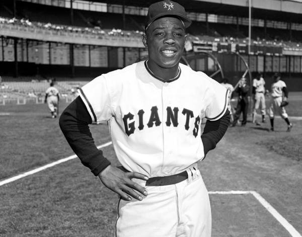 Topics Photograph - New York Giants Baseball Willie Mays by New York Daily News