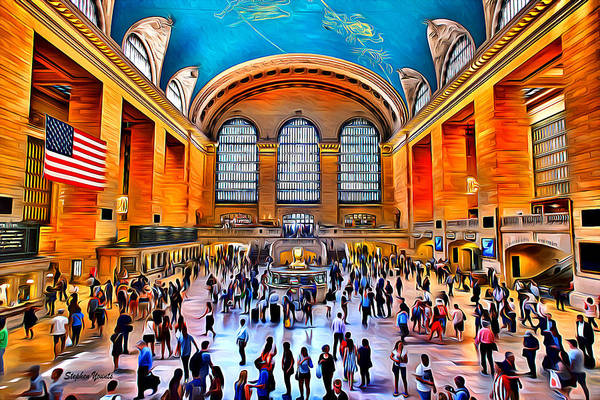 Wall Art - Digital Art - New York Grand Central Station by Stephen Younts