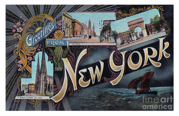 Photograph - New York Greetings - Version  1 by Mark Miller