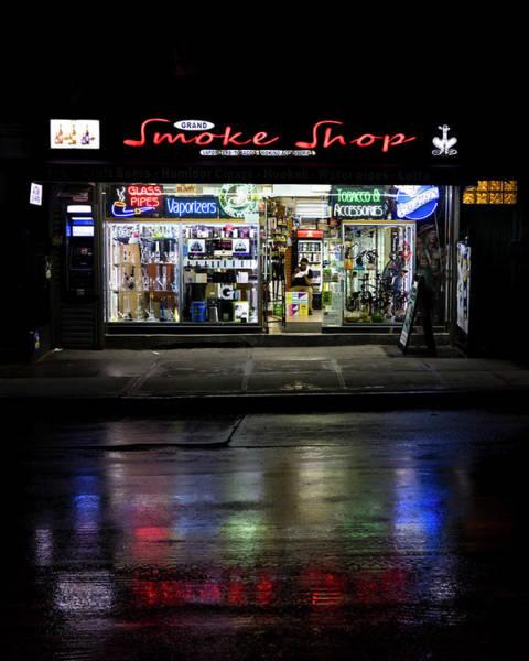 Wall Art - Photograph - New York, Ny, Usa - Smoke Shop Neon by Panoramic Images