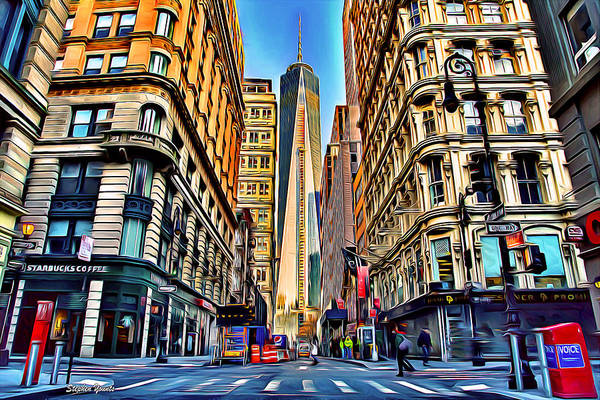 Wall Art - Digital Art - New York One World Trade Center by Stephen Younts