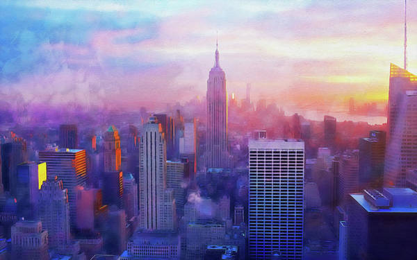 Painting - New York Panorama - 57 by Andrea Mazzocchetti