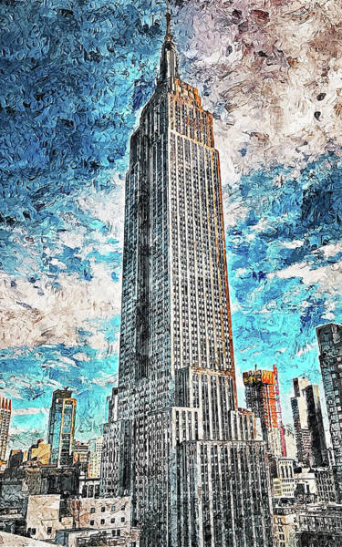 Painting - New York Panorama - 59 by Andrea Mazzocchetti