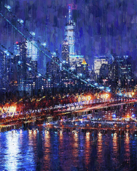 Painting - New York Panorama - 61 by Andrea Mazzocchetti