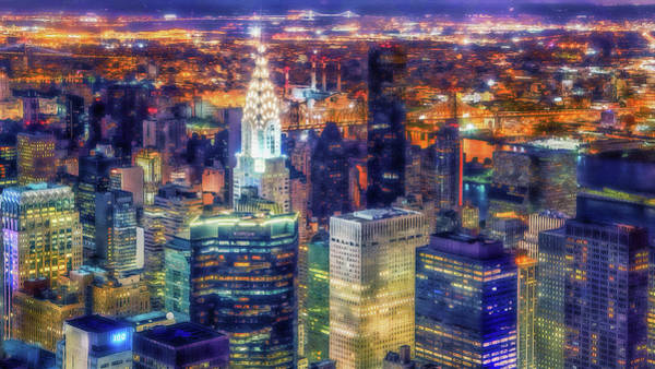 Painting - New York Panorama - 62 by Andrea Mazzocchetti